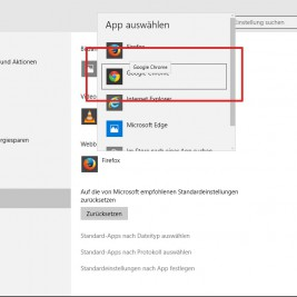Google Chrome als Webbrowser