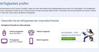 Unitymedia Verfügbarkeit prüfen